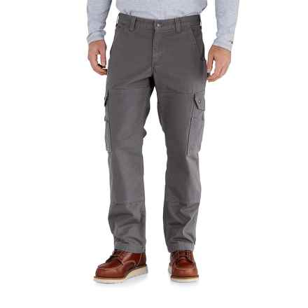 Carhartt Ripstop Cargo Work Pants - Flannel Lined, Factory Seconds (For Men) in Gravel - 2nds