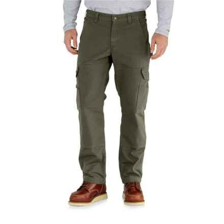 Carhartt Ripstop Cargo Work Pants - Flannel Lined, Factory Seconds (For Men) in Moss - 2nds