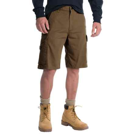 Carhartt Ripstop Cargo Work Shorts - Factory Seconds (For Men) in Dark Coffee - 2nds