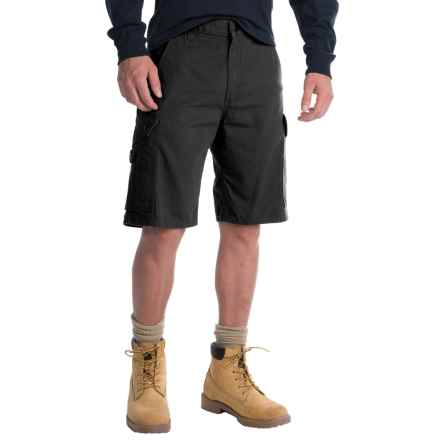 Carhartt Ripstop Cargo Work Shorts (For Men) in Black - 2nds