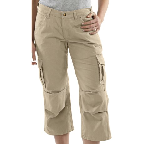 Carhartt Ripstop Cropped Cargo Pants (For Women) in Stone