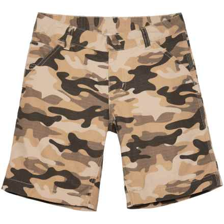 Carhartt Ripstop Dungaree Shorts (For Big Boys) in Tan Camo - Closeouts