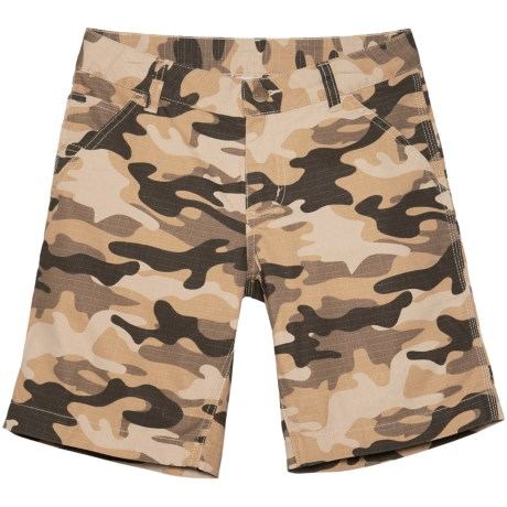 Carhartt Ripstop Dungaree Shorts (For Big Boys) in Tan Camo