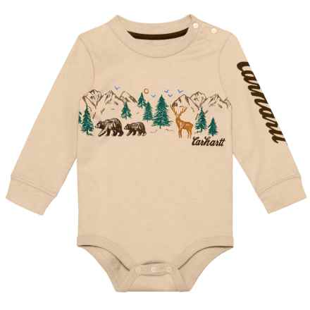 Carhartt Roaming the Wild Baby Bodysuit - Long Sleeve (For Infants) in Pale Khaki - Closeouts