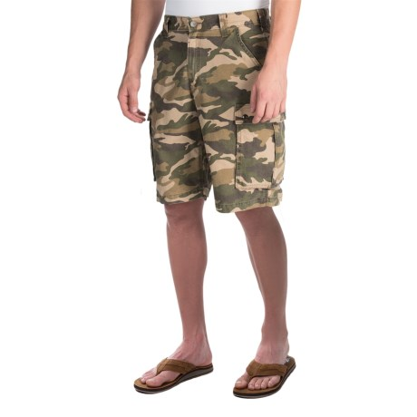 Carhartt Rugged Camo Cargo Shorts - Cotton Canvas, Factory Seconds (For Men) in Rugged Khaki Camo