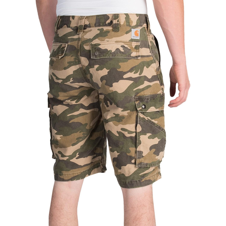 carhartt rugged camo cargo shorts for men. Black Bedroom Furniture Sets. Home Design Ideas