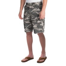 Carhartt Rugged Camo Cargo Shorts - Cotton Canvas (For Men) in Rugged Grey Camo - 2nds