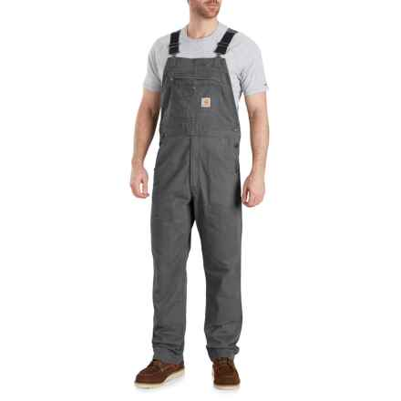 Carhartt Rugged Flex® Rigby Bib Overalls - Factory Seconds (For Men) in Gravel - 2nds