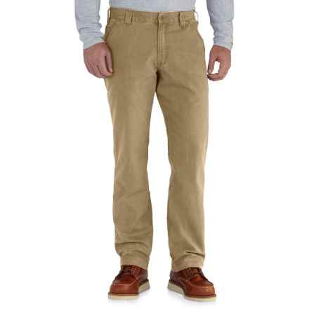 Carhartt Rugged Flex® Rigby Dungarees - Relaxed Fit, Factory Seconds (For Men) in Dark Khaki - 2nds