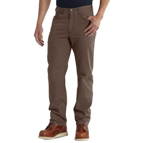 Carhartt Rugged Flex® Rigby Work Pants - Relaxed Fit, Straight Leg, Factory Seconds (For Men) in Dark Coffee
