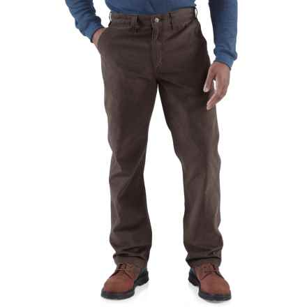 Carhartt Rugged Work Khaki Pants - Cotton Twill, Factory Seconds (For Men) in Dark Coffee - 2nds