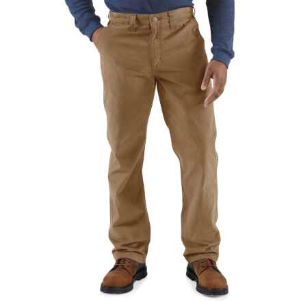 Carhartt Rugged Work Khaki Pants - Cotton Twill, Factory Seconds (For Men) in Dark Khaki - 2nds