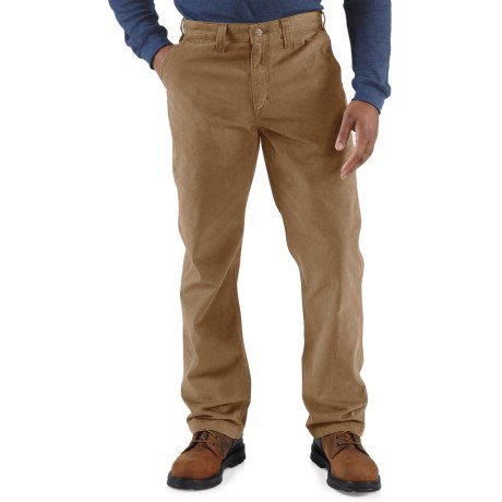 Carhartt Rugged Work Khaki Pants - Cotton Twill, Factory Seconds (For Men) in Dark Khaki