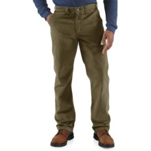 Carhartt Rugged Work Khaki Pants - Cotton Twill (For Men) in Army Green - 2nds