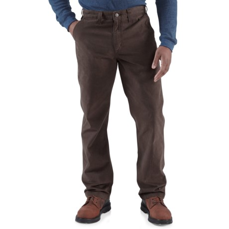 Carhartt Rugged Work Khaki Pants - Cotton Twill (For Men) in Army Green