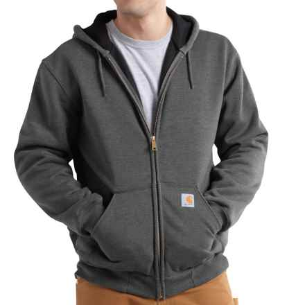 Carhartt Rutland Thermal-Lined Hooded Sweatshirt - Full Zip (For Men) in Carbon Heather - 2nds
