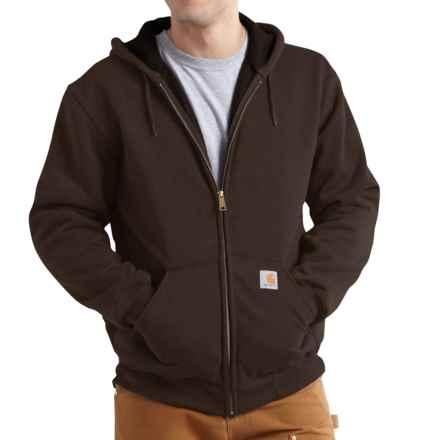 Carhartt Rutland Thermal-Lined Hooded Sweatshirt - Full Zip (For Men) in Dark Brown - 2nds