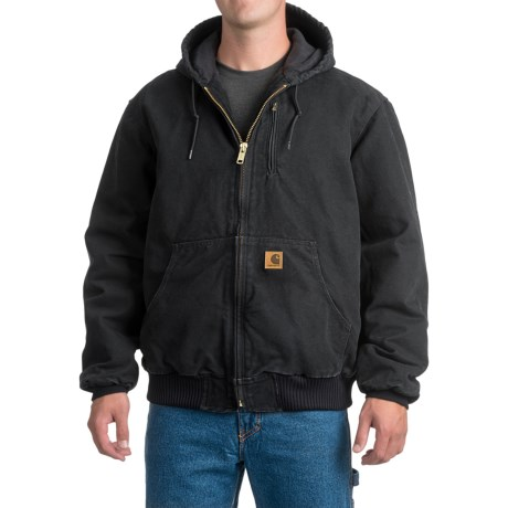 Carhartt Sandstone Active Jacket - Factory Seconds (For Big and Tall Men) in Black