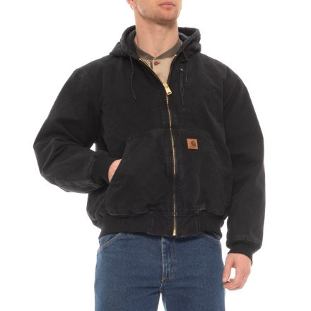 9a30dd3f17f7 Carhartt Sandstone Active Jacket - Factory Seconds (For Men) in Black - 2nds