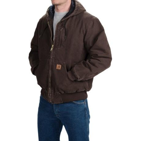Carhartt Sandstone Active Jacket - Factory Seconds (For Men) in Dark Brown