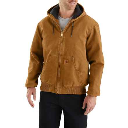 Carhartt Sandstone Active Jacket - Insulated, Factory Seconds (For Big and Tall Men) in Carhartt Brown - 2nds