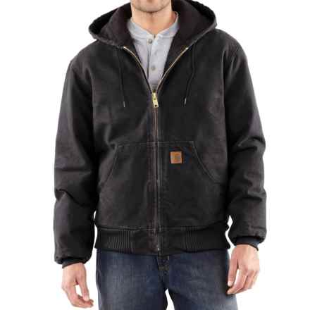 Carhartt Sandstone Active Jacket - Washed Duck, Factory Seconds (For Big Men) in Black - 2nds