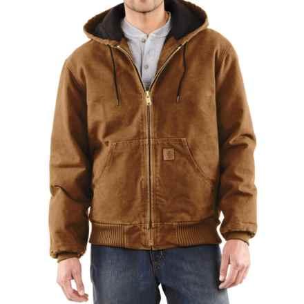 Carhartt Sandstone Active Jacket - Washed Duck, Factory Seconds (For Big Men) in Carhartt Brown - 2nds