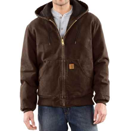 Carhartt Sandstone Active Jacket - Washed Duck, Factory Seconds (For Big Men) in Dark Brown - 2nds