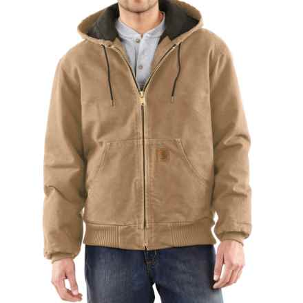 Carhartt Sandstone Active Jacket - Washed Duck, Factory Seconds (For Big Men) in Frontier Brown - 2nds
