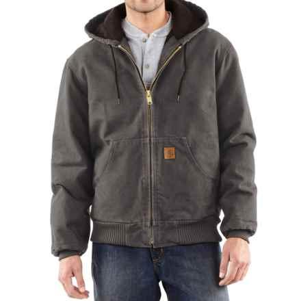 Carhartt Sandstone Active Jacket - Washed Duck, Factory Seconds (For Big Men) in Gravel - 2nds