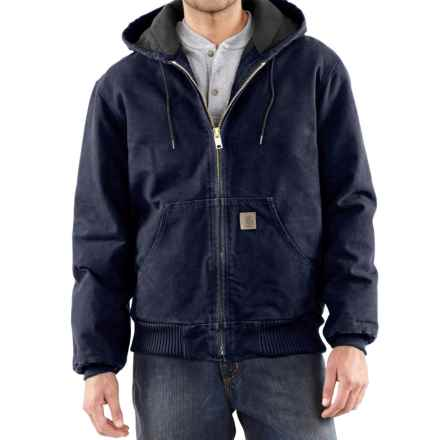 Carhartt Sandstone Active Jacket - Washed Duck, Factory Seconds (For Big Men) in Midnight - 2nds