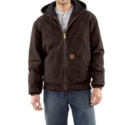 Carhartt Sandstone Active Jacket - Washed Duck, Factory Seconds (For Men) in Dark Brown - 2nds