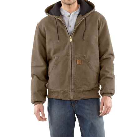 Carhartt Sandstone Active Jacket - Washed Duck, Factory Seconds (For Men) in Light Brown - 2nds