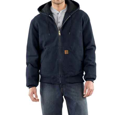 Carhartt Sandstone Active Jacket - Washed Duck, Factory Seconds (For Men) in Midnight - 2nds