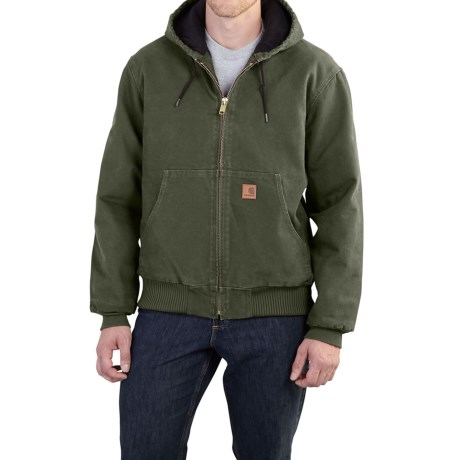 Carhartt Sandstone Active Jacket - Washed Duck, Factory Seconds (For Men) in Moss