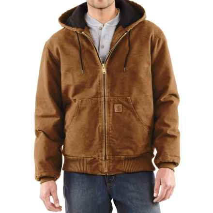Carhartt Sandstone Active Jacket - Washed Duck (For Big Men) in Carhartt Brown - 2nds