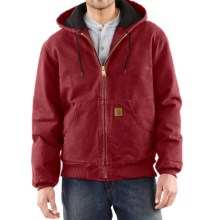 Carhartt Sandstone Active Jacket - Washed Duck (For Big Men) in Dark Red - 2nds