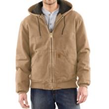 Carhartt Sandstone Active Jacket - Washed Duck (For Big Men) in Frontier Brown - 2nds