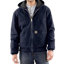 Carhartt Sandstone Active Jacket - Washed Duck (For Big Men) in Midnight - 2nds