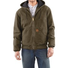 Carhartt Sandstone Active Jacket - Washed Duck (For Men) in Army Green - 2nds