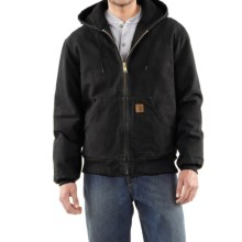 Carhartt Sandstone Active Jacket - Washed Duck (For Men) in Black - 2nds