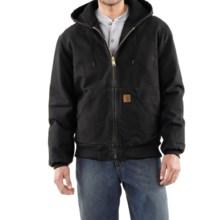Carhartt Sandstone Active Jacket - Washed Duck (For Men) in Black - 2nds