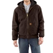 Carhartt Sandstone Active Jacket - Washed Duck (For Men) in Dark Brown - 2nds