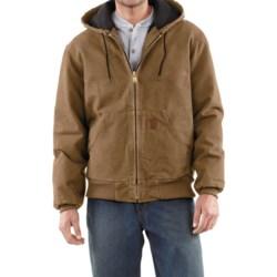 Carhartt Sandstone Active Jacket - Washed Duck (For Men) in Dark Brown