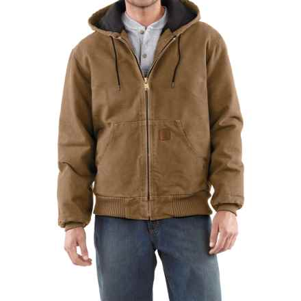 Carhartt Sandstone Active Jacket - Washed Duck (For Men) in Frontier Brown - 2nds