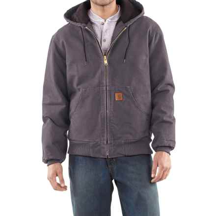 Carhartt Sandstone Active Jacket - Washed Duck (For Men) in Gravel - 2nds
