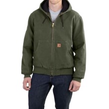 Carhartt Sandstone Active Jacket - Washed Duck (For Men) in Moss - 2nds