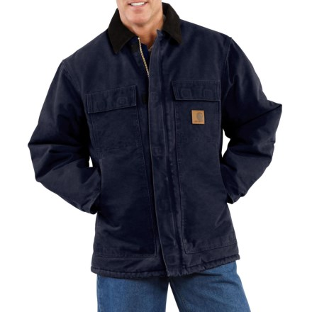 49f966278a44 Carhartt Sandstone Arctic Traditional Duck Work Coat - Insulated