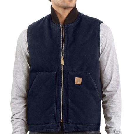 Carhartt Sandstone Arctic Vest - Quilt Lined, Factory Seconds (For Big Men)