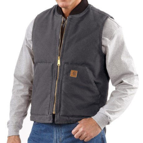 Carhartt Sandstone Arctic Vest - Quilt Lined, Factory Seconds (For Big Men) in Shadow